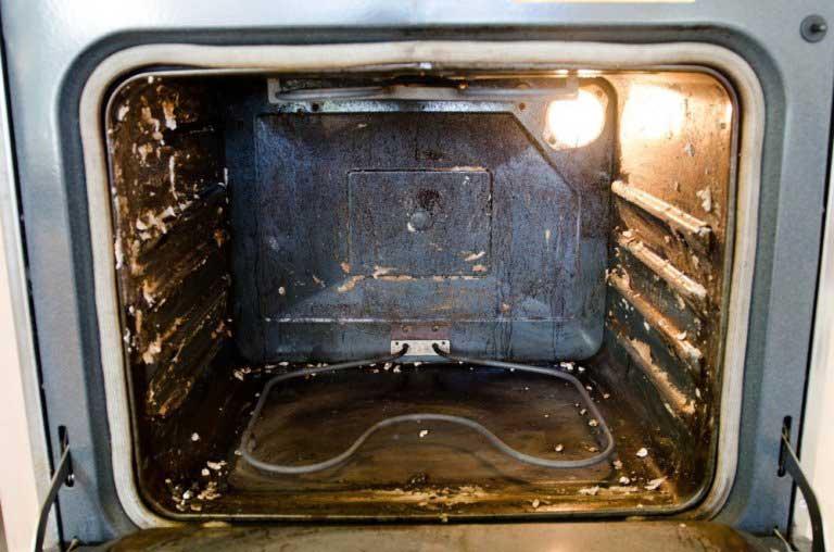 грязная печь